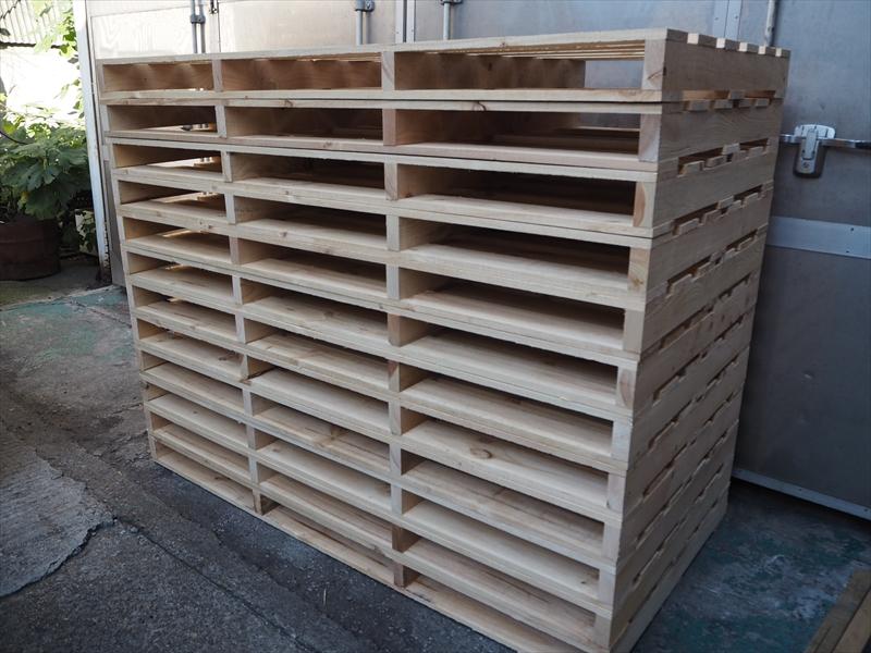 木製パレットの価格は、使用している材料の材積で決まります