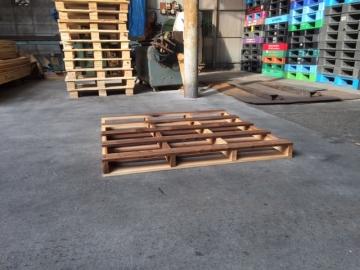 木製新品パレット1100x1100x95 二方差し