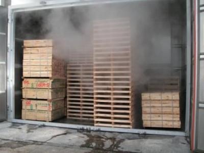 木製梱包材熱処理設備